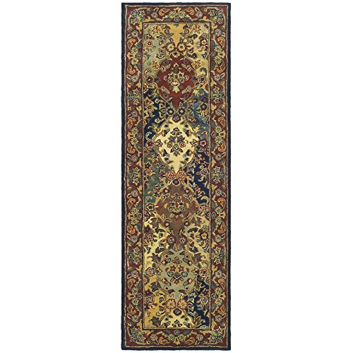 Safavieh Heritage Collection HG911A Handmade Traditional Oriental Multi and Burgundy Wool Runner (2'3 x 22′)