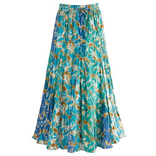 Womens Waves Blue Broom Skirt product image