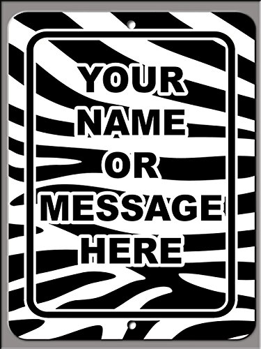 Personalized custom Zebra 020 9x12 Aluminum Metal Sign With Your Name!
