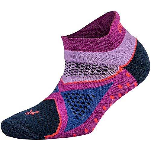 Balega Enduro V-Tech No Show Socks For Men and Women (1-Pair), PinkBerry/Lilac, Small