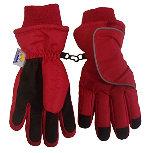 nice-caps-kids-easy-on-thinsulate-and-waterproof-velcro-wrap-gloves-6-8yrs-red
