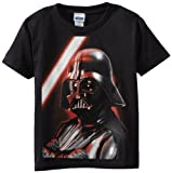 Star Wars Little Boys' Close And Personal Regular T-Shirt, Black, Small(4)