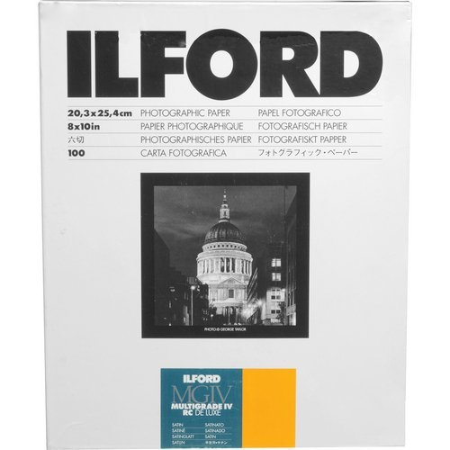 Ilford Deluxe MGIV RC Satin 8x10 inches (20.3x25.4 centimetres) 100 Sheets