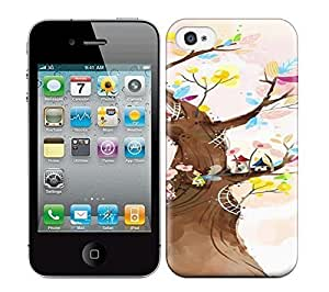 Best Power(Tm) HD Colorful Painted Watercolor Life Tree Give You Hope Hard Phone Case For Iphone 4/4S
