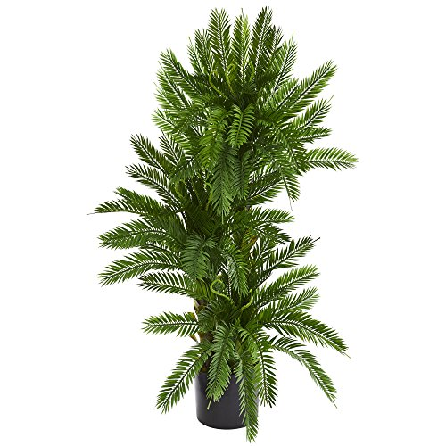 (Nearly Natural 6359 Triple Cycas Artificial Silk Plants, Green)