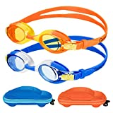 Kids Swim Goggles Swimming Goggles for Boys Girls Kid (Age 3-8) Child Colorful Swim Goggles Clear...