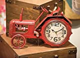 ArtFuzz Tractor Table Clock Red 16X2.25X11.75 For Sale
