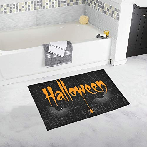 Scary Halloween Eyes Creative Text Halloween Custom Non-Slip Bath Mat Rug Bath Doormat Floor Rug for Bathroom 20 X 32 Inch ()