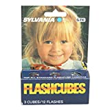 Sylvania Blue Dot FlashCubes, Flash Cubes (3 cubes,12 Total Flashes)