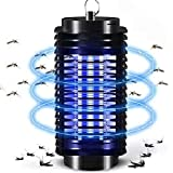 Lixada Electric Bug Zapper with UV Light & Hook,Portable Standing or Hanging Light for Home Office Indoor and Outdoor Use: more info
