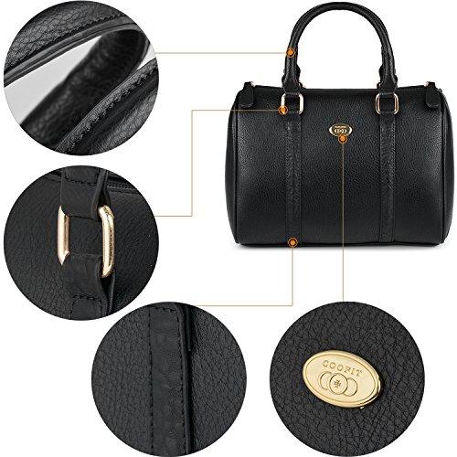 Coofit Bag Bandolera de Bolsos Bowling Tote Bolsos Cuero Mujer Bolsos Shopper Bolso Bolsos Bolso Bolsos de Mujer Mano Set Bolso 8wX5qxx6