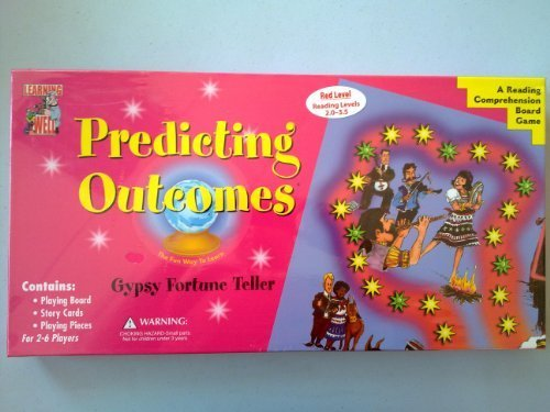 Reading Learning Games Well Comprehension - Predicting Outcomes - Gypsy Fortune Teller - A Reading Comprehension Game - Red Reading Levels 2.0-3.5 by Learning Well