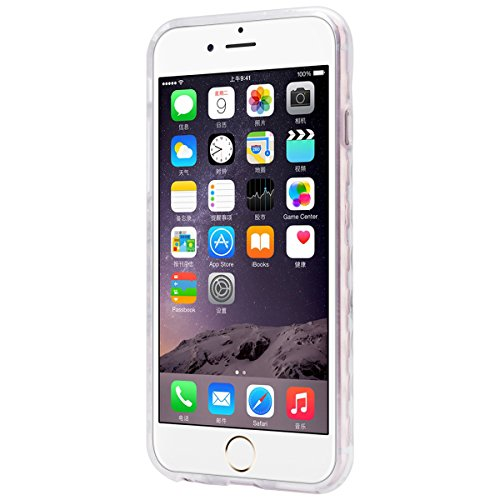 GrandEver iPhone 6 Plus/iPhone 6S Plus Weiche Silikon Hülle TPU Bumper Durchsichtige Rückschale Transparent Schutzhülle Klar Handytasche mit Muster Anti-Kratzer Stoßdämpfung Ultra Slim Rückseite Silic