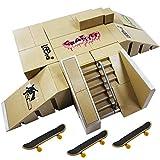 Ispeedytech 9pcs Professional Skate Park Kit Ramp for Mini Fingerboards Finger Skateboard