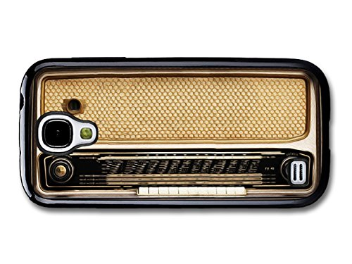 Retro Vintage Radio Illustration in Cool Brown coque pour Samsung Galaxy S4 mini