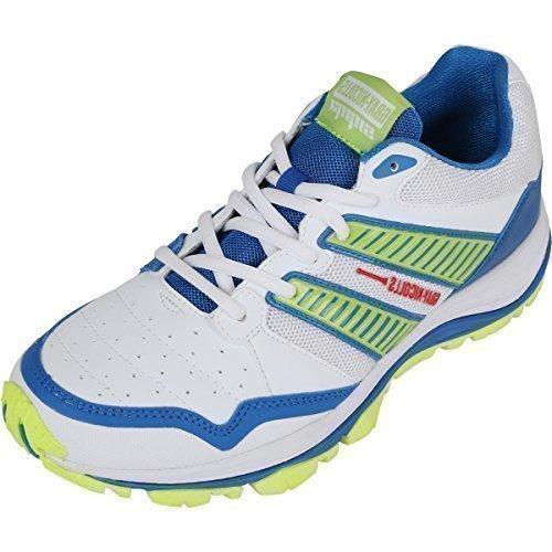 Gray Nicolls Sigma Sports para caballero prenda jugador de cricket zapatos suela goma calzado, blanco