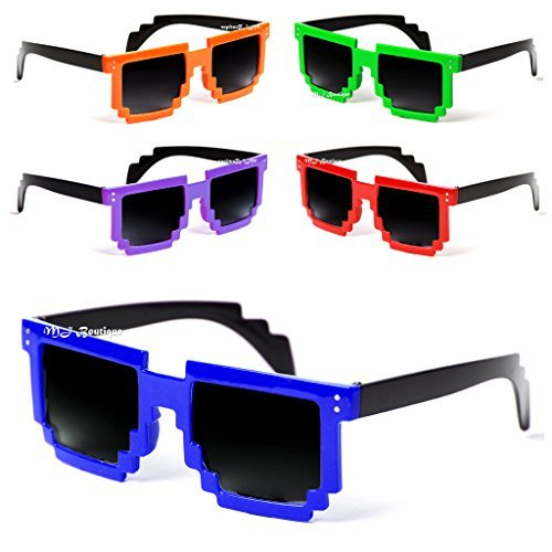 MJ EYEWEAR'S 8 Bit CPU Gamer Pixel Sunglasses (LOT OF - Sunglasses Pixel 8 Bit