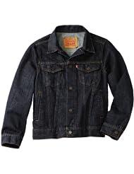 仅$23.99 李维斯 Levi's 男孩 经典 机车 牛仔夹克 8-20 Trucker Jacket 灰