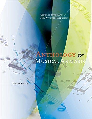 Anthology for Musical Analysis Charles Burkhart