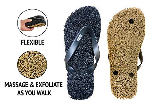 Acupressure Massage Slippers Reflexology Foot Massager and Foot Scrubber. Massage Sandals Relaxation Helps with: Plantar Fasciitis, Heel Spur Relief, Arch Pain and Many Other Foot Pain. (9/10)