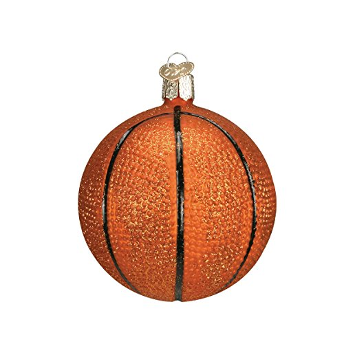 Old World Christmas Basketball Glass Blown Ornament