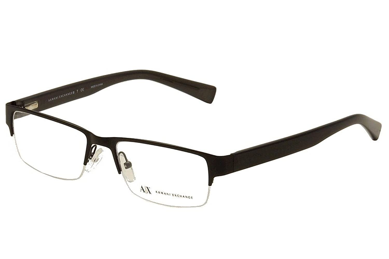 e346f01c292e Armani Exchange AX1015 is a Semi-Rimless frame for Men, which is made of  Metal & Plastic. Most metal frames are made out of Monel.