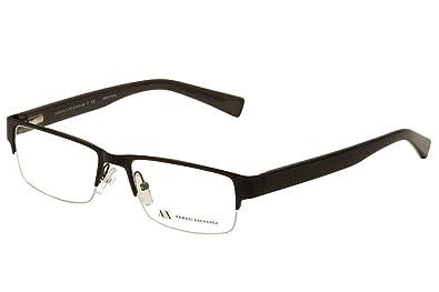 aa5d670c211 Armani Exchange AX1015 Eyeglass Frames 6070-52 - Satin Black blk Dk Grey  Trans
