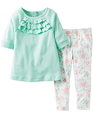 Baby Girls' 2 Piece Jegging Set (Baby) - Mint