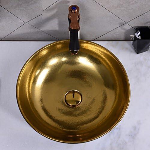 上記カウンター盆地レトロラウンドステージ洗面アメリカ盆地ヨーロッパ陶芸洗面台(43x13cm) P3/20