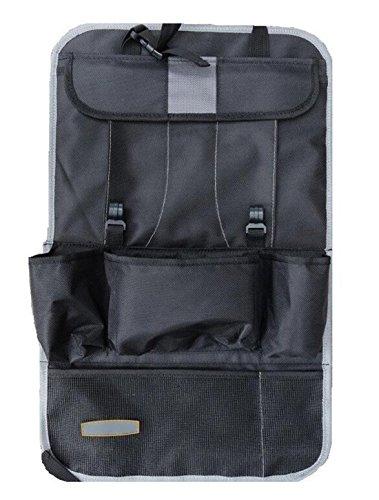 Big Dragonfly Quality Multi-function Back Car Seat /Travel Car Organizer with Ipad Holder / Portable Car Seat/ Back Storage Pocket Backseat Organizer Bag /Baby Travel /A Model-Gray