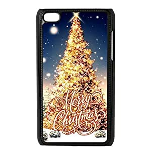 diy zheng Ipod Touch 5 5th Generation Back Protective Case - Cute Merry Christmas Tree with lights Case Perfect as Christmas gift(3)
