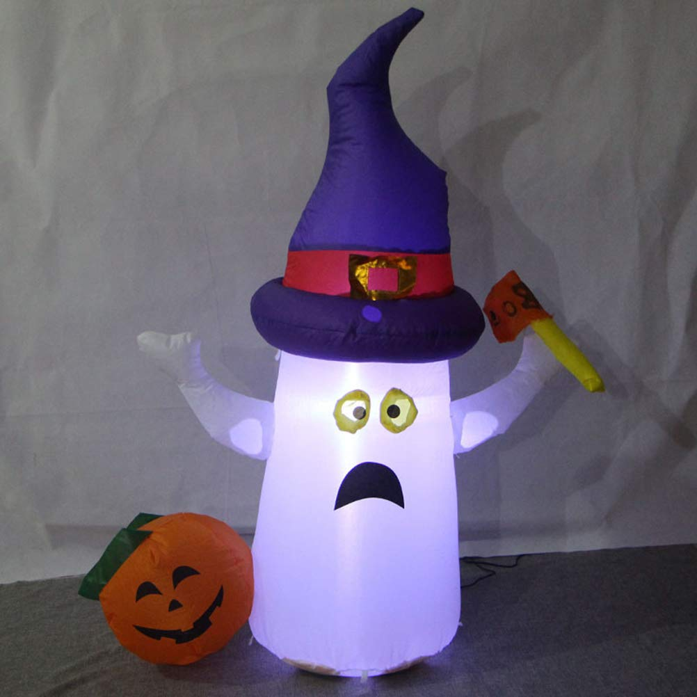 Mobestech Halloween Inflatable Lights Blow up Glowing Pumpkin Ornaments for Halloween Party Indoor Outdoor Decorations