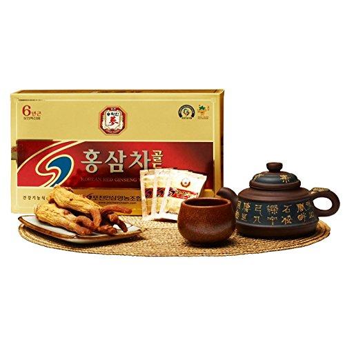 Pocheon 300g(3g x 100p) Korean Panax Red Ginseng Roots Extract Tea Gold 6Years, 15% Extract (Tea Ginseng Panax Root)