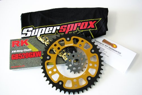 Supersprox Stealth 520 Chain and Sprocket Set for Yamaha YZF R6 (2006-2013)