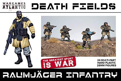 Death Fields Raumjäger Infantry Minature Game Models (Machine German Gun Heavy)