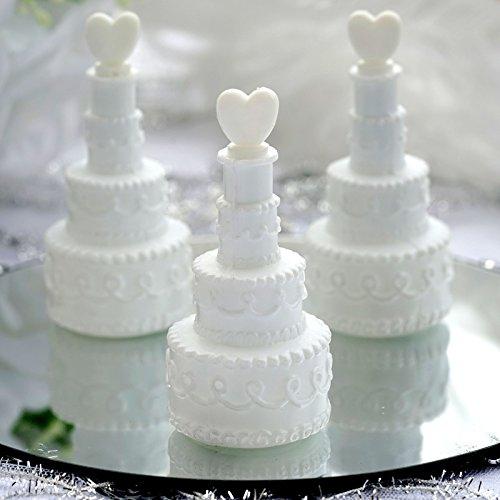 Efavormart Wholesale White Cake Heart Bubbles Wedding Bridal Favor – 24/pk