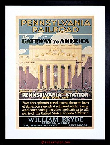Pennsylvania Railroad Station (TRAVEL PENNSYLVANIA RAILROAD NEW YORK USA RAIL STATION FRAMED PRINT F97X6863)