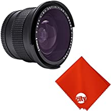 Opteka 0.35X Professional Super Wide Angle Fisheye with Macro Close Up for All Digital SLR Cameras and Camcorders with 52MM/58MM/67MM Lens Threads