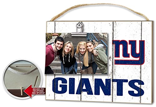 - KH Sports New York Giants Weathered Clip-It Photo Frame