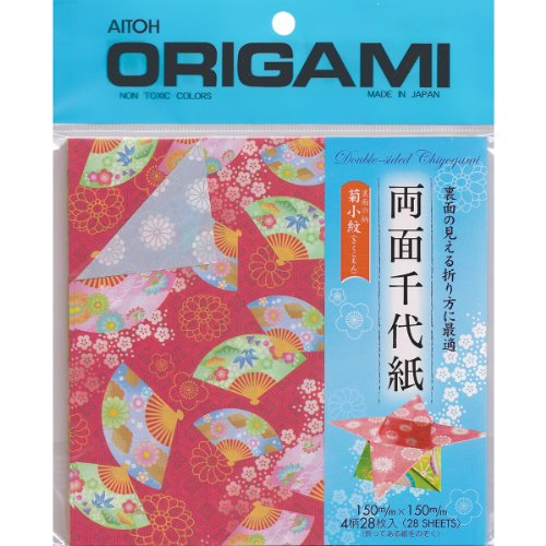 Aitoh Ryomen Double Sided Origami Paper, 5.875 by 5.875-Inch, 28-Sheets