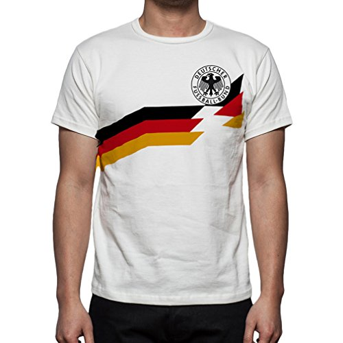 Palalula Men's Germany Deutschland World Cup Italy 1990 T-Shirt S (Italy 1990 World Cup)