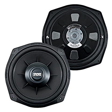 Earthquake Sound X84SWS 8-inch Shallow Woofer System Under-the-Seat Subwoofers 4-Ohm (Pair) (Earthquake Shallow Subwoofer)