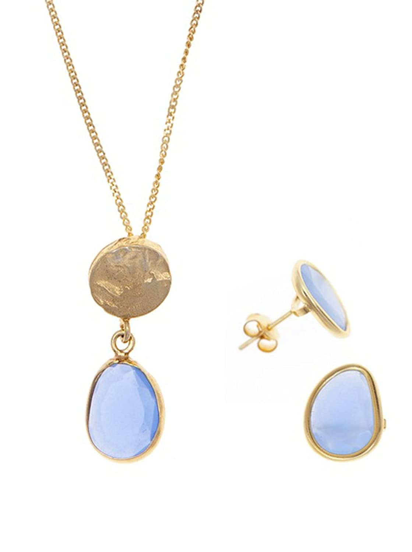 Córdoba Jewels  Conjunto de gargantilla y pendientes Plata de Ley bañada