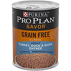 Purina Pro Plan Savor Grain Free Classic Turkey, Duck & Quail Entrée Adult Wet Dog Food - (12) 13 oz. Cans