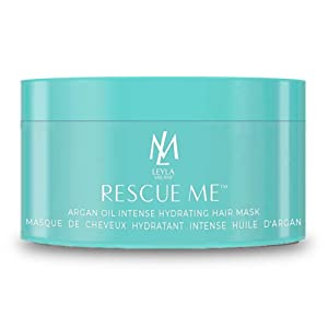 Leyla Milani Rescue-Me Hair Mask - Best Professional Deep Conditioning Argan Oil Hair Hydrating Masque for Dry Damaged Hair, Color Treated Hair, Growth, Paraben-Free, Keratin and Extension Safe - 8oz