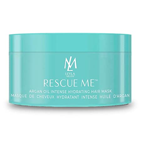 Leyla Milani Rescue-Me Hair Mask – Best Professional Deep Conditioning Argan Oil Hair Hydrating Masque for Dry Damaged Hair, Color Treated Hair, Growth, Paraben-Free, Keratin and Extension Safe – 8oz