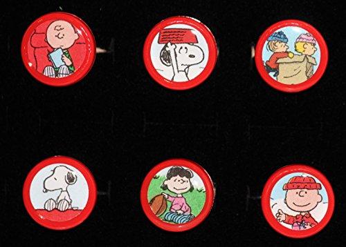 Peanuts Snoopy Charlie Brown Lucy Linus Vintage Book Dresser Drawer Pull Knob Set Beagle Schultz