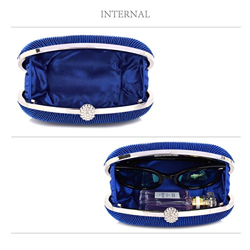 Bridal Quality Evening Party Women's Royal Purse Wedding Blue 092 Small Clutch LeahWard Bag Bag anqvwY