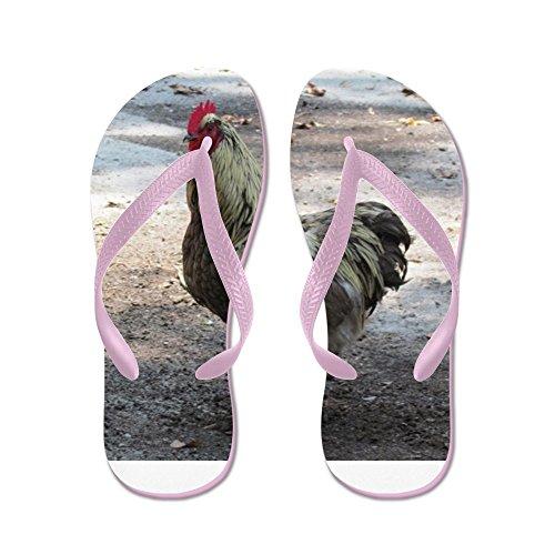 CafePress Chicken - Flip Flops, Funny Thong Sandals, Beach Sandals Pink