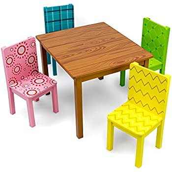 Funny Furniture Kids Wooden Table U0026 4 Chairs Set, Cartoon Inspired Designs  By Imagination